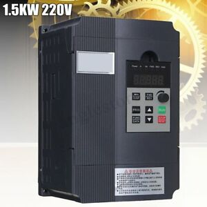 220v 1 5kw Single Phase Input To 3 Phase Output Frequency Converter Vfd Vsd Be