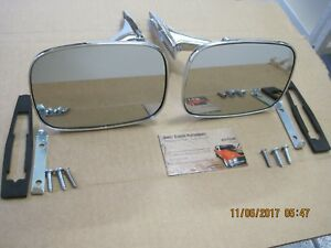 1969 Chevelle 69 72 El Camino 71 72 Rear View Mirror W ribbed Base Rh Lh Pair