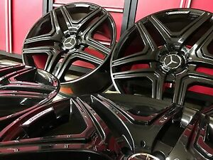 Mercedes Ml63 Blk 20 In Rims New Set4 Fit Ml350 Ml500 Ml550 Ml55 Gl450 Gl550