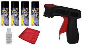 Plasti Dip 4 Matte Black Wheel Kit Spray Aerosol Cans Trigger Dyc Dip Release