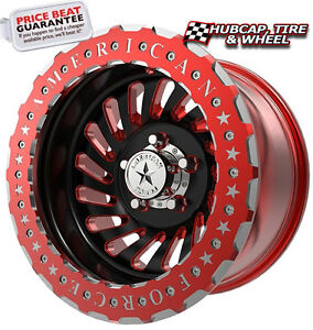 American Force Barstow Bl5 Black red Beadlock 17 x9 Wheels Rims 5 Lug set Of 4