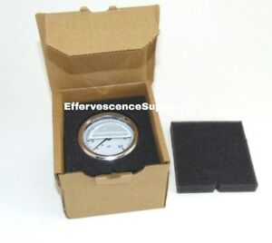 New Hydraulic Liquid Filled Pressure Gauge 0 5000 Psi 1 4 Npt Center Back Mount