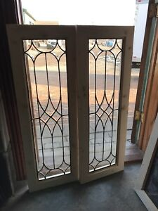 Sg 2683 2 Available Price Each Leaded And Beveled Glass Windows 14 75 X 41 75