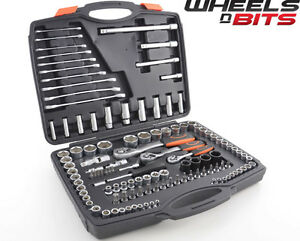 New 120pcs Chrome Vanadium Spanners Sockets Set 72 Teeth 1 2 1 4 3 8 Ratchets