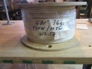 1680 Ft Reel Of 16 Tffn Mtw White Wire