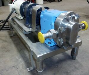 Waukesha Model 006 Stainless Steel Sanitary Positive Displacement Pump