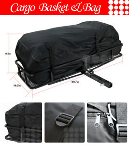 Fit Ford Car Rear Hitch Basket Travel Luggage Carrier Cargo Extension Rack Bag