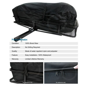 Universal Tail Hitch Mount Rack Luggage Basket Cargo Carrier Storage