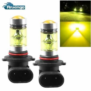 2x 9005 Hb3 9145 3000k 100w Led Projector Fog Driving Drl Light Bulbs Yellow Us