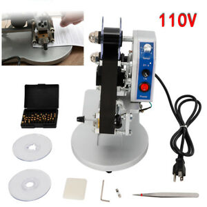 110v Dy 8 Ribbon Manual Hot Foil Stamping Machine Date Coder Printer Thermal Top