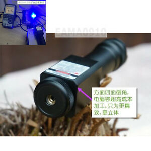 Focusable Waterproof 450nm Blue Laser Pointer Led Torch Powerful 450t 5000