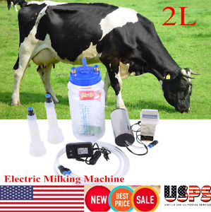 Electric Barrel Milking Machine Portable Vacuum Pump For Cow Goat Milker Tank 2l