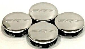 4 Pcs Dodge Chrome Srt Letter 63mm 2 5 Wheel Center Cap Charger Challenger