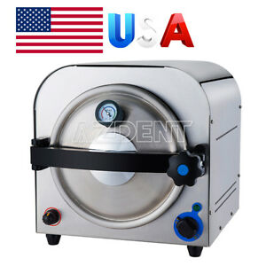 14 Liter Autoclave Steam Sterilizer Medical Sterilizition Dental Curing Light Us
