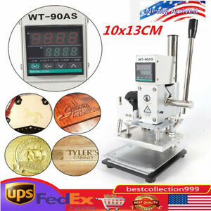 10 13cm Manual Digital Hot Foil Stamping Machine Leather Logo Stamp Bronzing Top