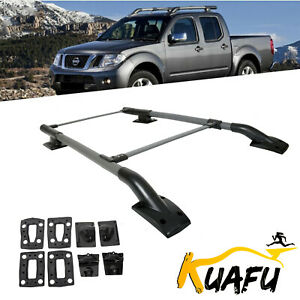 For 05 17 Nissan Frontier 4dr Roof Rack rail Crossbar Luggage Carrier Aluminum