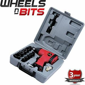 New 1 2 Drive Air Impact Wrench Tool 17pc Inc 10 Impact Sockets Set Compressor
