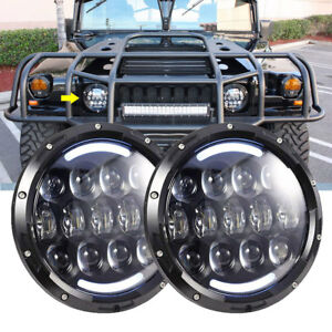 Led Headlight Military Truck Lite Hummer M998 M923 M35a2 24v Humvee 5 Ton Pair