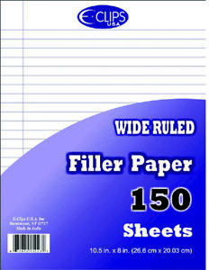 Filler Paper Wide Ruled 150 Sheets Case Pack 48