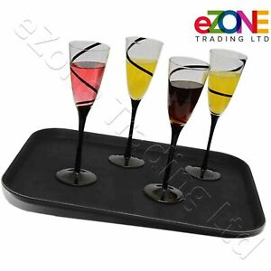 Non slip Rectangular Tray Bar Pub Waiter Serving Drinks Food Caf Dinner Platter