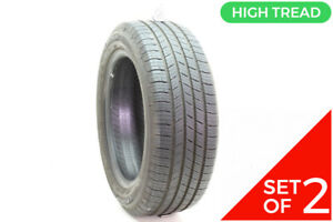 Set Of 2 Used 205 55r16 Michelin Defender 91h 8 5 9 5 32