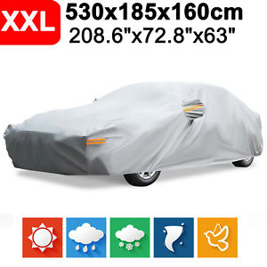 Size Xxl Peva Full Car Cover Waterproof Rain Uv Resistant Dustproof Protection