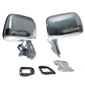 Chrome Led Side Door Mirrors Fit Toyota Hilux Truck Pickup Rn80 85 Rn110 1988 97
