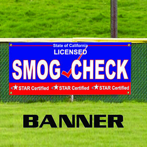 Smog Check Licensed Test Repair Outdoor Vinyl Banner Sign