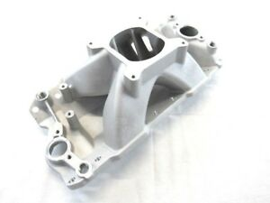 1957 1986 Sbc 350 Tall High Rise Intake Manifold 3000 7500rpm Satin Bpe 4007
