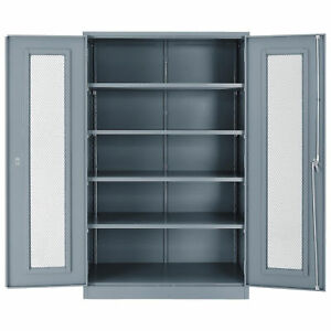 Assembled Storage Cabinet With Expanded Metal Door 48x24x78 Gray Lot Of 1