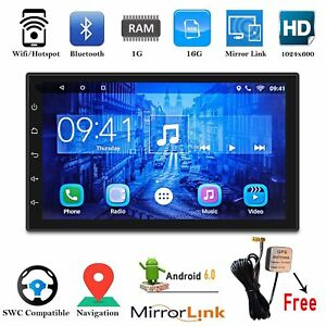 7inch Android 6 0 Double 2din Car Navi Sat Gps Antenna Stereo Radio Wifi Mp5 Be