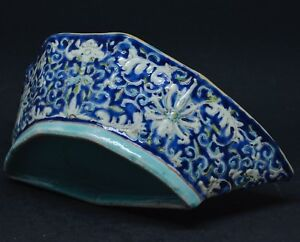 Antique Chinese Blue Porcelain Bowl 7 5 Inches Wide