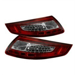 Spyder Auto 5008848 Led Tail Lights 2005 2008 Porsche 911 997 Pair Red Clear