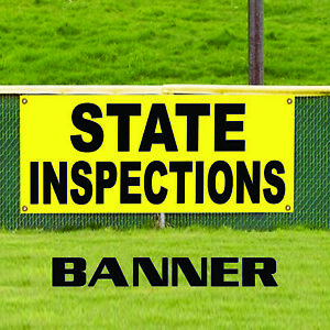 State Inspections Official Vehicle Business Outdoor Vinyl Banner Sign