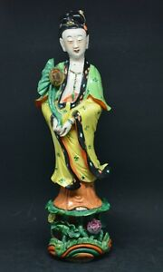 Chinese Porcelain Kwan Yin Figurine 12 Inches Tall