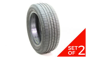 Set Of 2 Used 205 55r16 Michelin Defender 91h 6 5 7 5 32