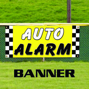 Auto Alarm Service Here Outdoor Vinyl Banner Sign