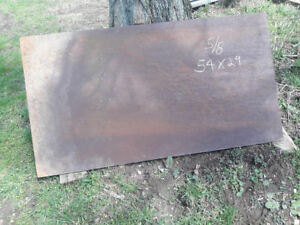 Steel Plate 5 8 Thick 54x29x5 8 Metal Plate Welding Table Top Target Backstop