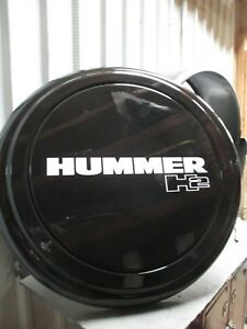 Hummer H2 35 Black Spare Tire Cover And Ring With Latch New d5 1