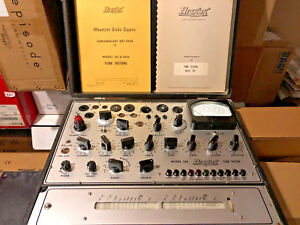 Hickok Model 580 Tube Tester In Orig Hard Case With Manuals Very Good Condition