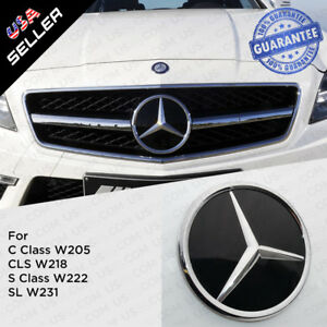 Mercedes Base Plate Front Grill Emblem Modified Upgrade Amg Crystal Style For C