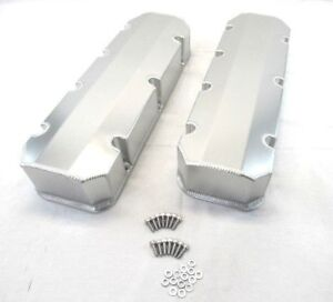 Bbc 454 Fabricated Tall Alum Valve Cover Short Bolt Clear Anodized Bpe 2315ca