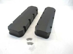 Bbc 454 Fabricated Tall Alum Valve Cover Short Bolt Black Powder Coat Bpe 2315bc