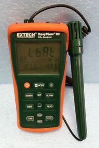 Indoor Air Analyzer 1 To 6000 Ppm Co2 Extech Ea80 Used