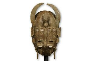 Bronze Double Faced Senufo Mask 10 Ivory Coast