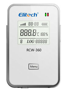 Elitech Rcw 360 Wifi Data Logger Temperature Humidity Records Remote Control