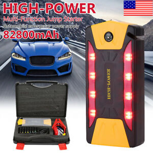 82800mah Car Jump Starter Power Bank Charger Booster Battery Portable Rescue Usa