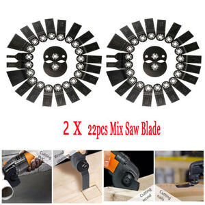 2x 22 Pc Oscillating Multitool Quick Release Saw Blade Fit Fein Multimaster Be