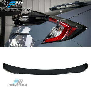 Fits 17 19 Civic 10th 5dr Hatchback V Style Abs Unpainted Trunk Spoiler Wing