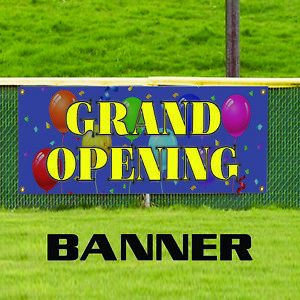Grand Opening Promotion New Business Open Store Vinyl Banner Sign